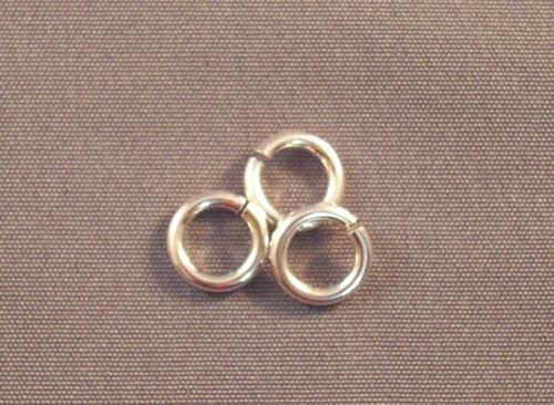 Argentium Silver Round Rings