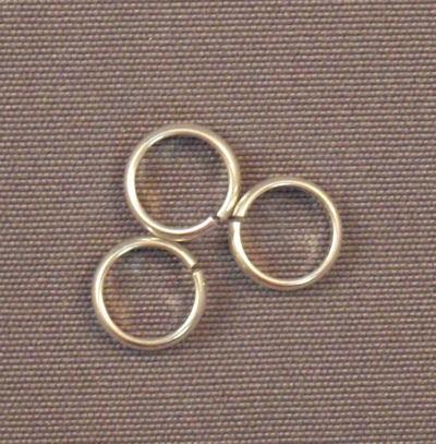 Argentium Silver Half Round Rings