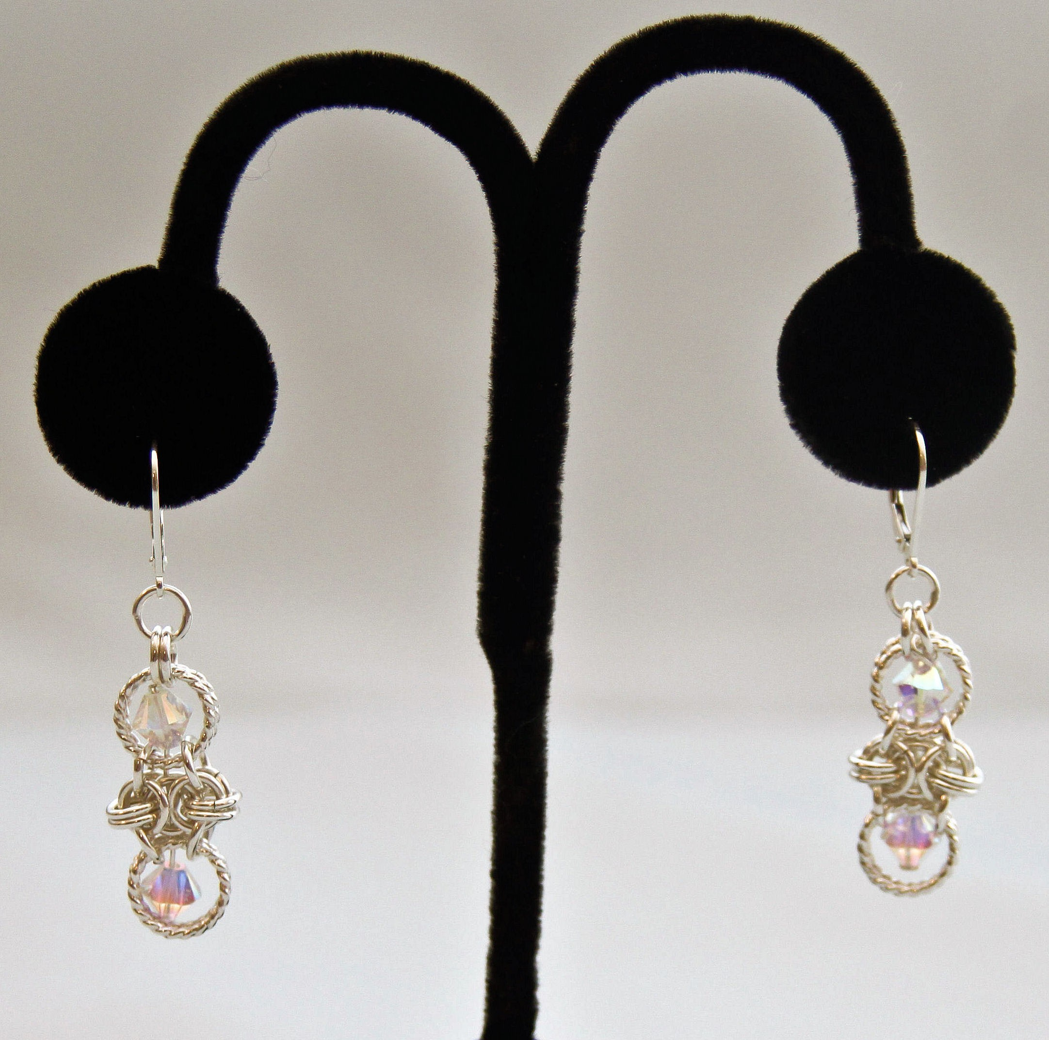 Honeycomb with Bling Earrings