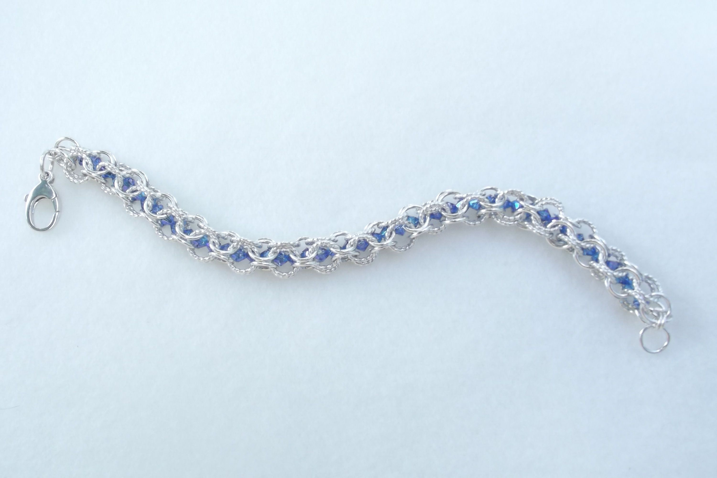 Open Roundmaille with a Twist and Crystals