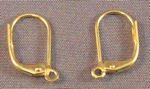 Yellow Gold Filled Leverback Earrings