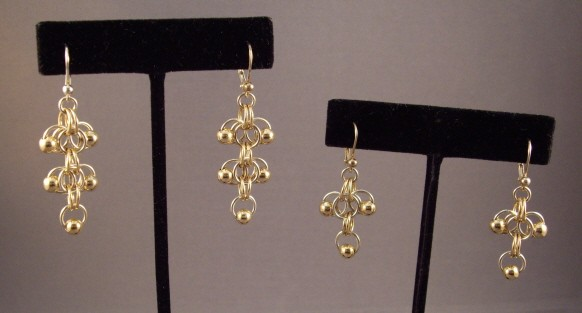 Roosa with Gold Balls Earrings Kit