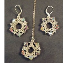 Byzantine and Stars Pendant and Earrings