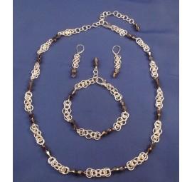 Double Delight Bracelet and Earrings