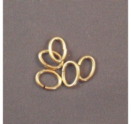 Yellow Gold Filled Half Round Rings