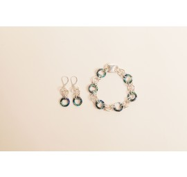 Cosmic Eye Bracelet and Earrings