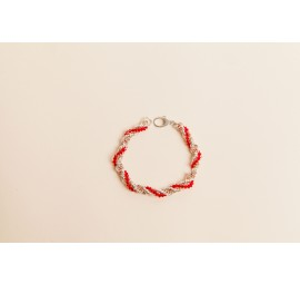 French Rope with Crystals Bracelet