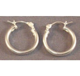 14mm Sterling Silver Hoop Earrings