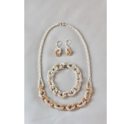 Chain of Links Necklace and Earrings